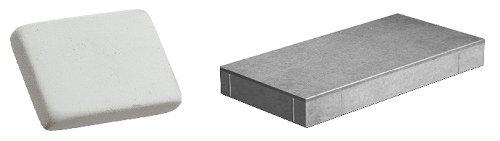 Por ejemplo: notamos que el hierro o el hormigón son pesados, mientras que la misma cantidad de goma de borrar o plástico son ligeras.