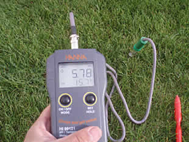 pH-metro de suelo.