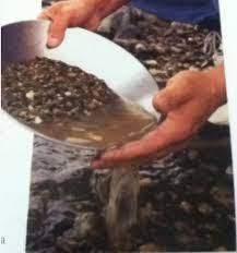La levigación es un método empleado en la minería para separar los metales preciosos.